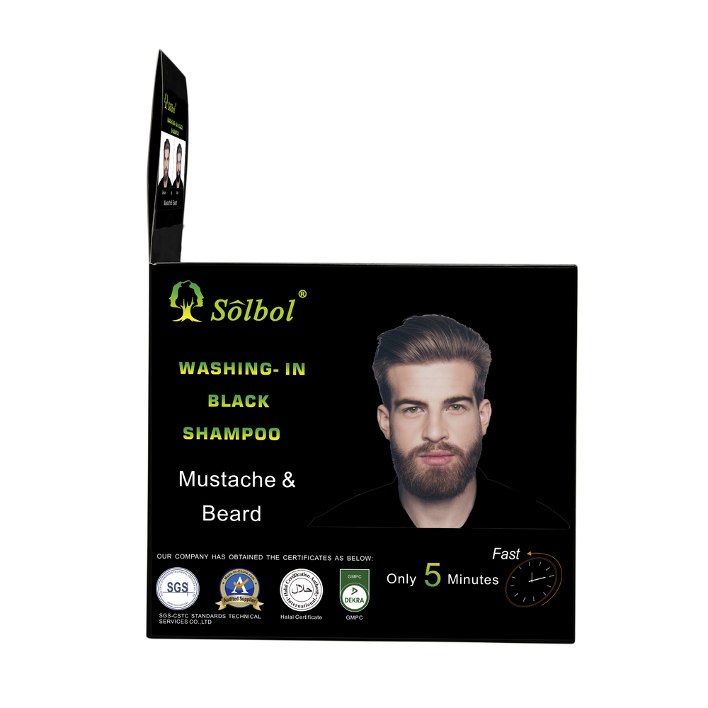 Newest instant 5 minutes beard dye/mustacle color to men