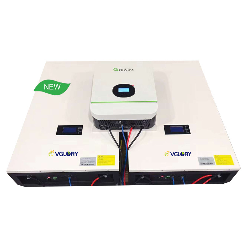 Hybrid Off Battery Powerwall Rechargeable Lithium Ion 50ah Lifepo4 Wall Mounted Batteries 24v 48v