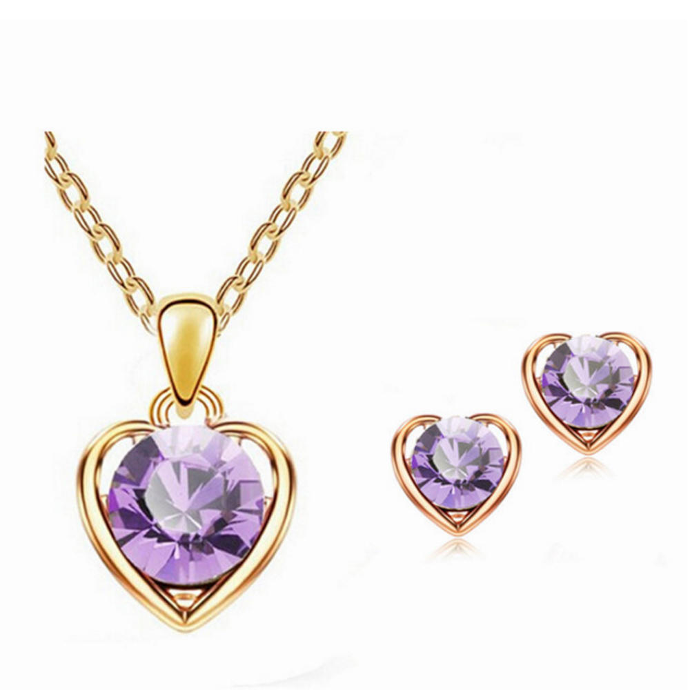 Earrings and necklace wedding designs gold jewelry set