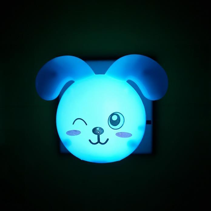 OEM W063 Curved eared rabbit shape 4SMD mini switch plug in night light 0.6W AC 110V 220V