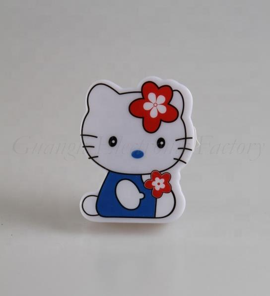 W080 White cute cat shape with Flower LED SMD mini switch plug in night light with 0.6W and 110V or 220V