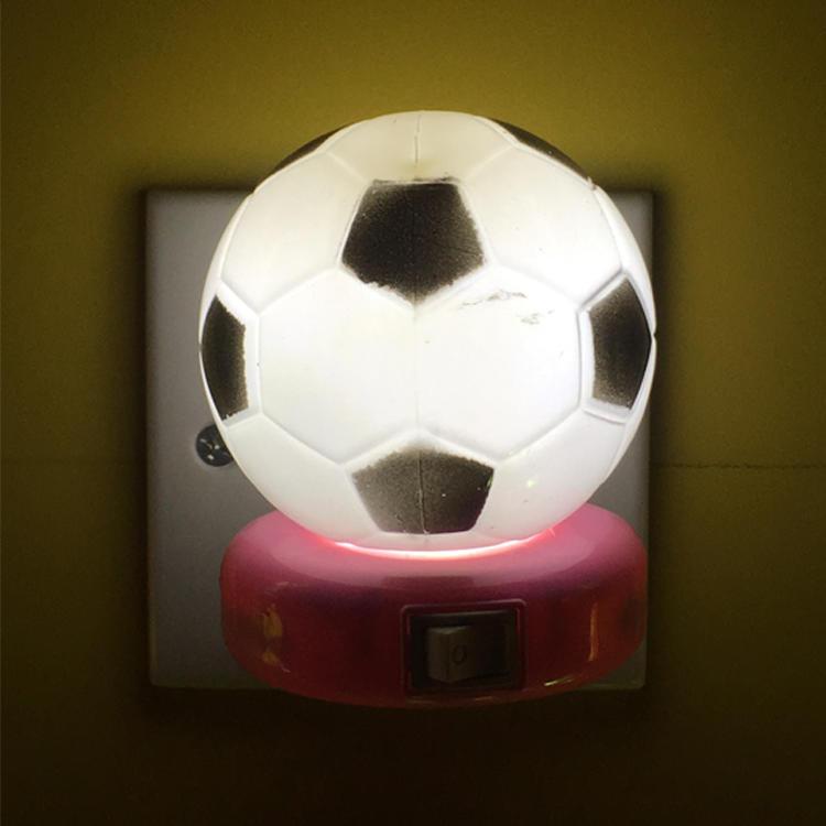 W071 World Cup Souvenir gifts Soccer Football 5SMD mini switch plug in LED night light 0.6W AC 110V 220V