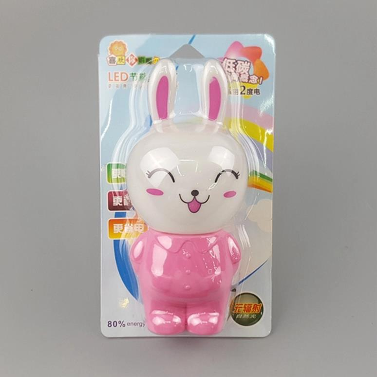 hot sale OEM W123 Happy smile rabbit lamp switch plug in led night light For Baby Bedroom wall decoration
