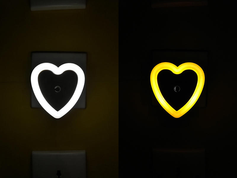 W105 sensor of love heart switch plug in led night light For Baby Bedroomdecoration child gift
