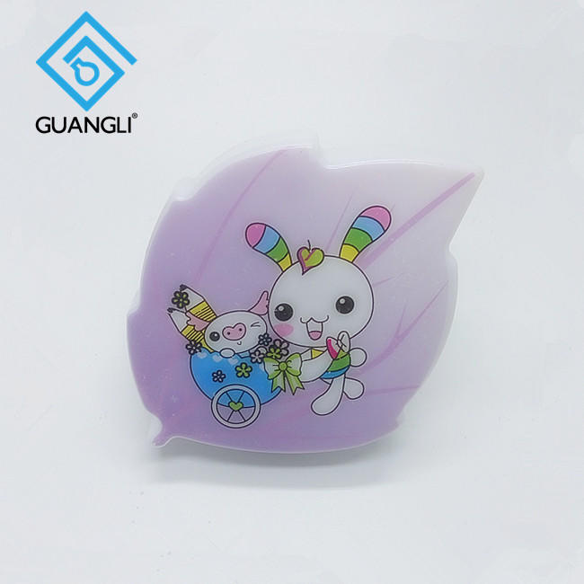 W019 leaf with cartoon image LED SMD mini switch plug in night light with 0.6W and 110V or 220V