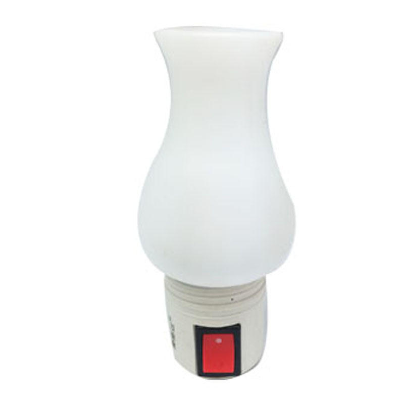 OEM 0.6W and 110V or 220V W002 torch pillar Candle shape LED SMD mini switch plug in night light