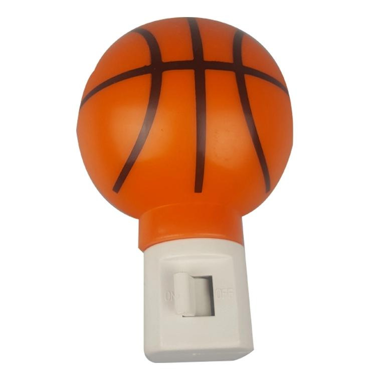 OEM A61-B basketball plastic mini plug in night light on off with bulb CE ROHs certificate approved
