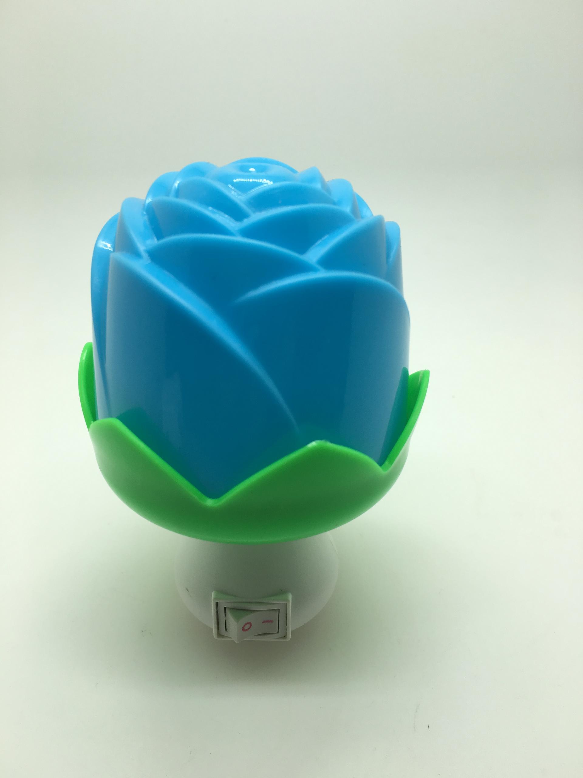 OEM 0.6W AC 110V or 220V W042 Flower rose shape 3 SMD mini switch sensor plug in night light