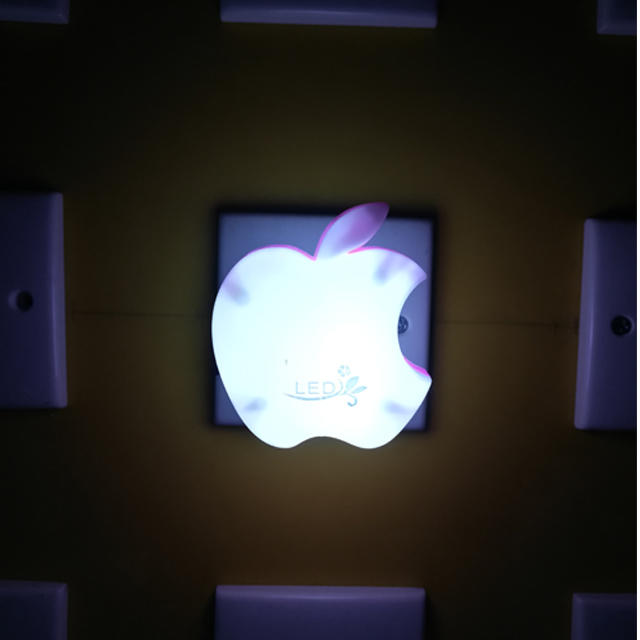 W050 apple shape 16SMD mini switch plug in table lamp night light decoration in bedroom