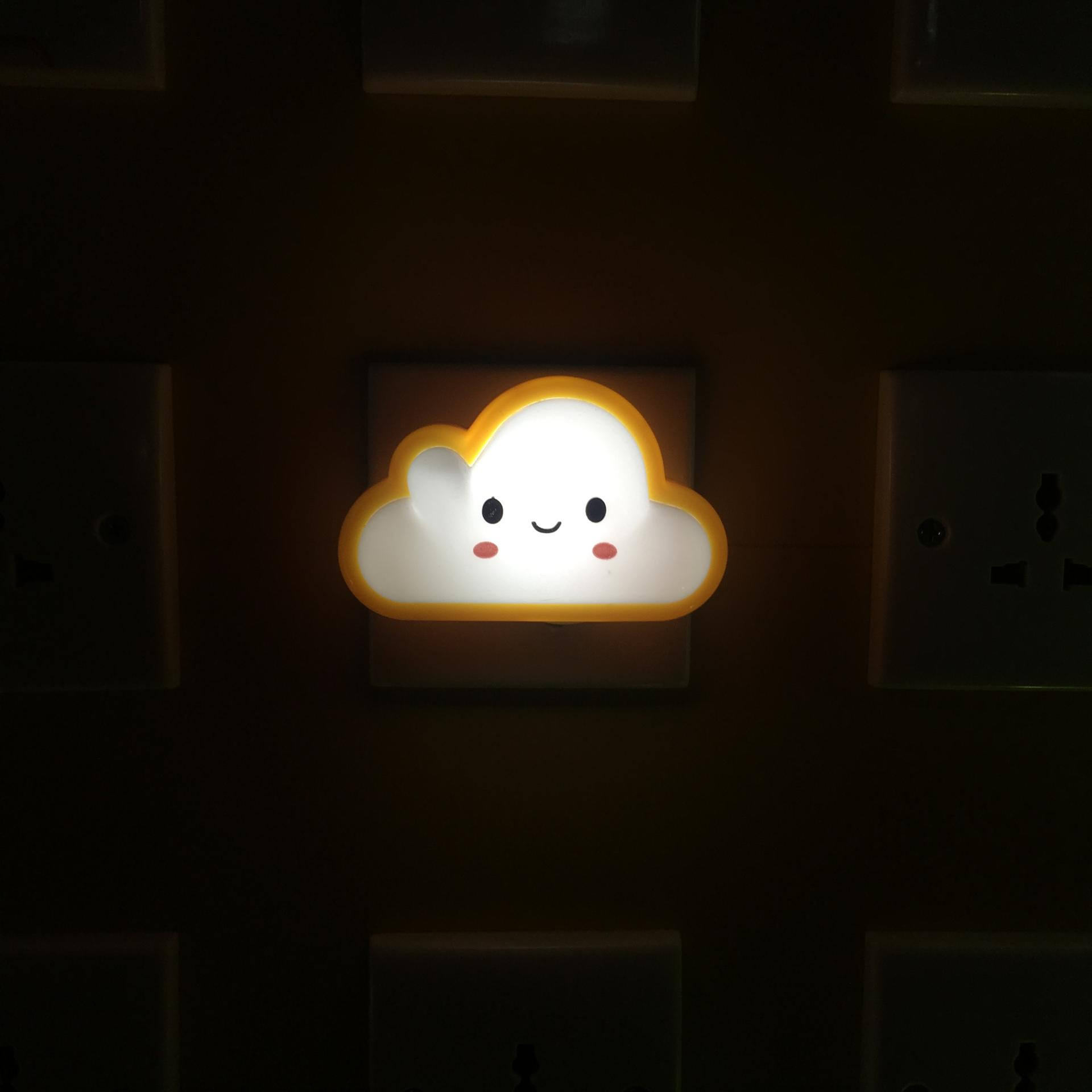 OEM Cloud shape LED SMD mini switch plug in night light with 0.6W and 110V or 220V W029
