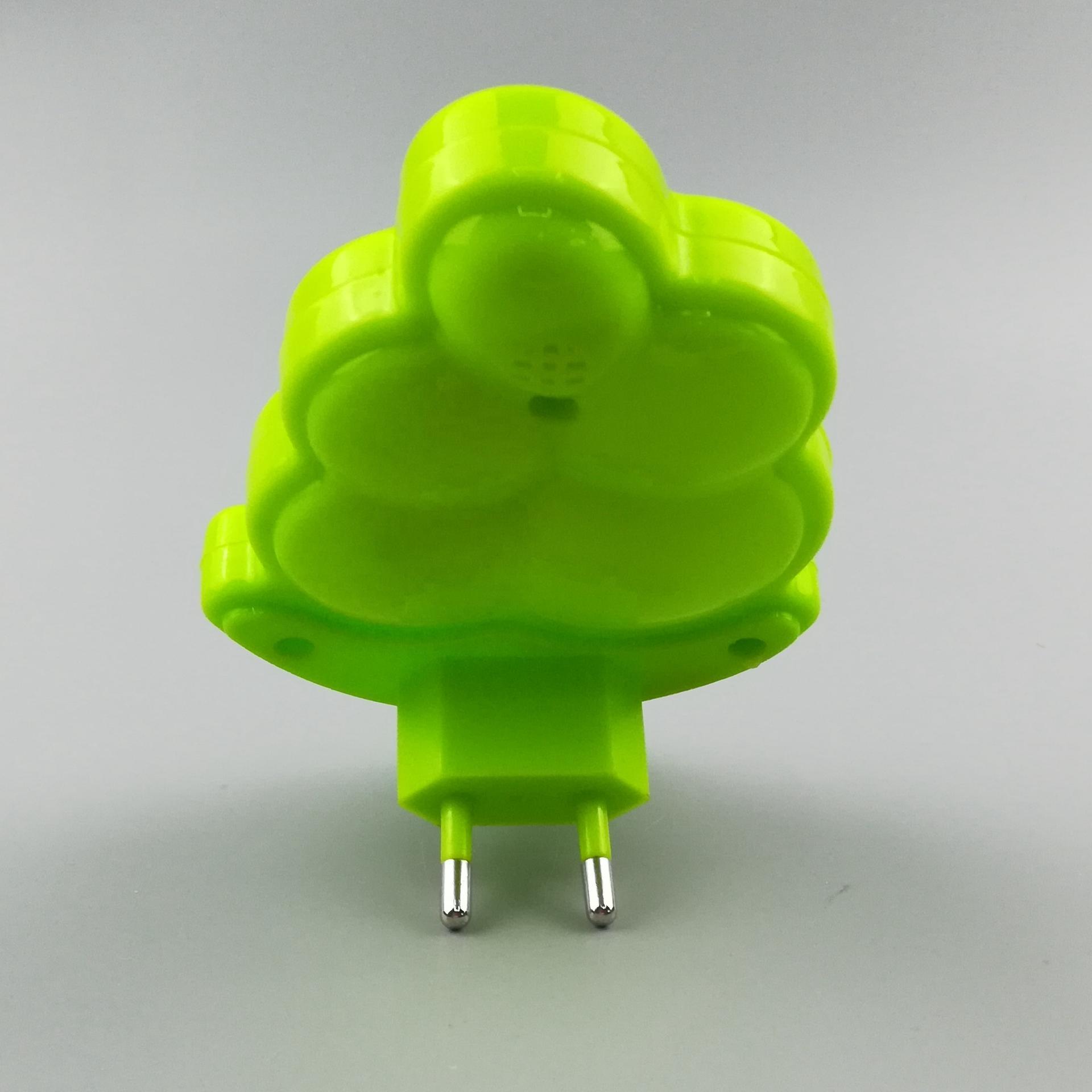 W084 Fruit grape shape LED mini switch plug in plastic LED night light with 0.6W and 110V or 220V