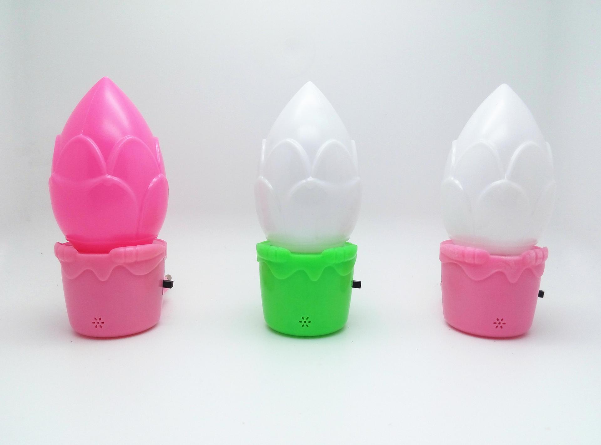 W013 Flower shape LED night light mini switch plug in for kids baby bedroom