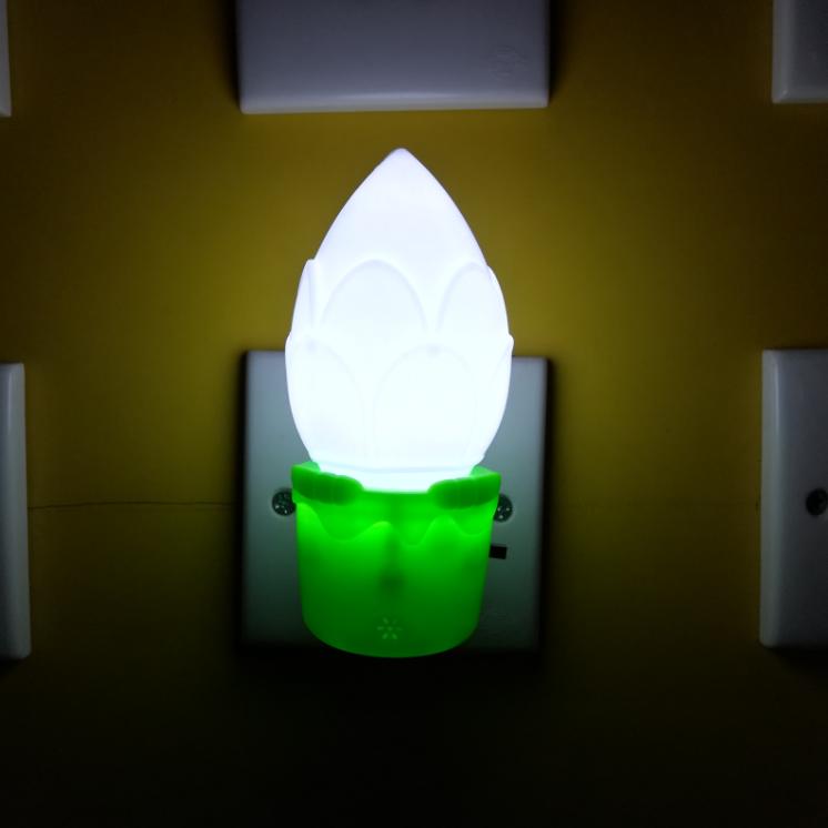 OEM W013Pretty flower shape16SMD mini switch plug in wall lamp led night light
