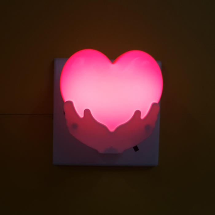 W120 Heart in hand switch plug in led night light For Baby BedroomValentine's day gift