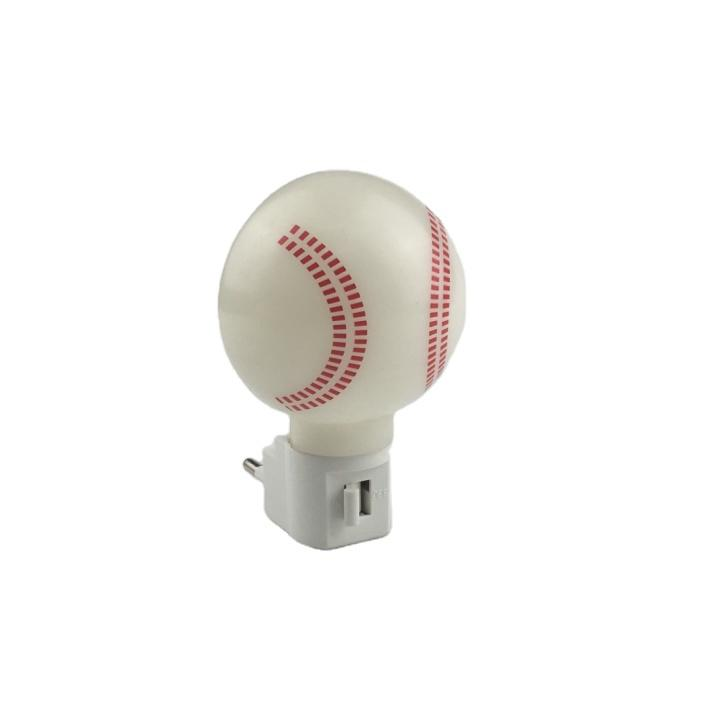 OEM A61-RBaseball pattern plastic mini switch nightlight CE ROSH approved HOT SALE promotional gift items