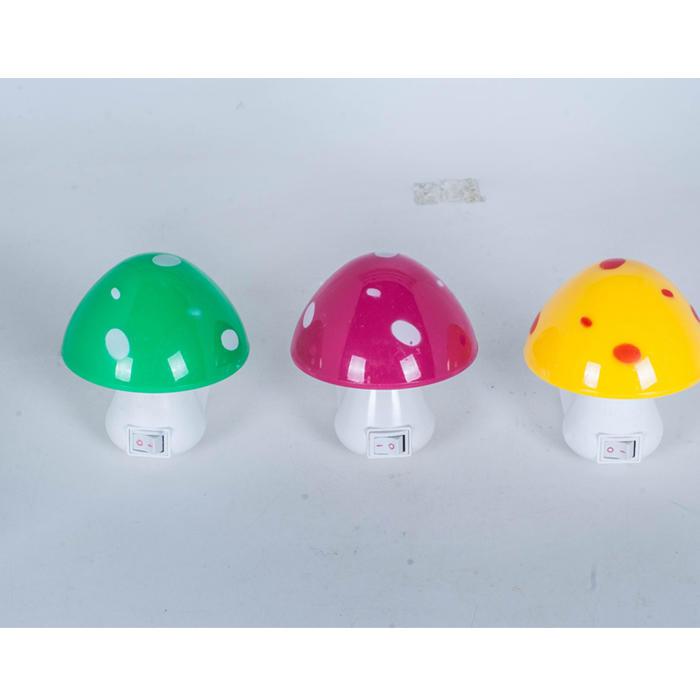 Mushroom shape 16SMD mini switch plug in table lamp night light with 1.5W AC 110V or 220V W022