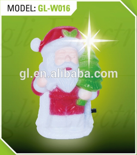 snowman Christmas shape LED SMD mini switch plug in night light with 0.6W and 110V or 220V W016