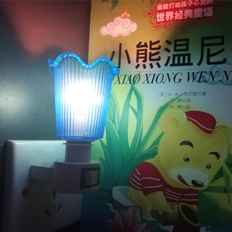 flower cover shape mini switch nightlight CE ROSH approved HOT SALE promotional gift items
