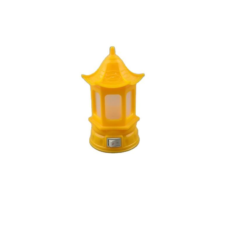 house buding shape W066 3SMD mini creative switch plug in LED night light for baby kids bedroom 0.6W 110V 220V