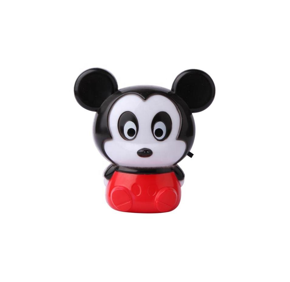 Toy Mickey Mouse shape 4 SMD mini switch plug in night light 0.6W AC 110V 220V W051