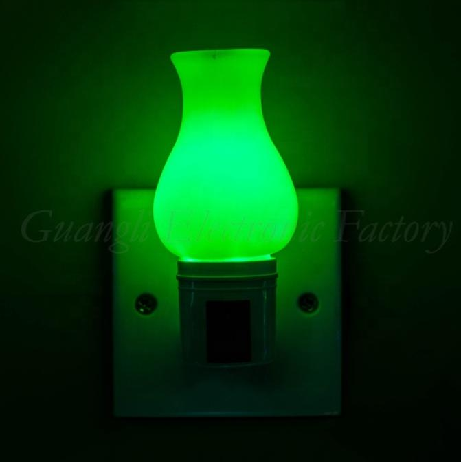 torch pillar Candle shape LED SMD mini switch plug in night light with 0.6W and 110V or 220V W002