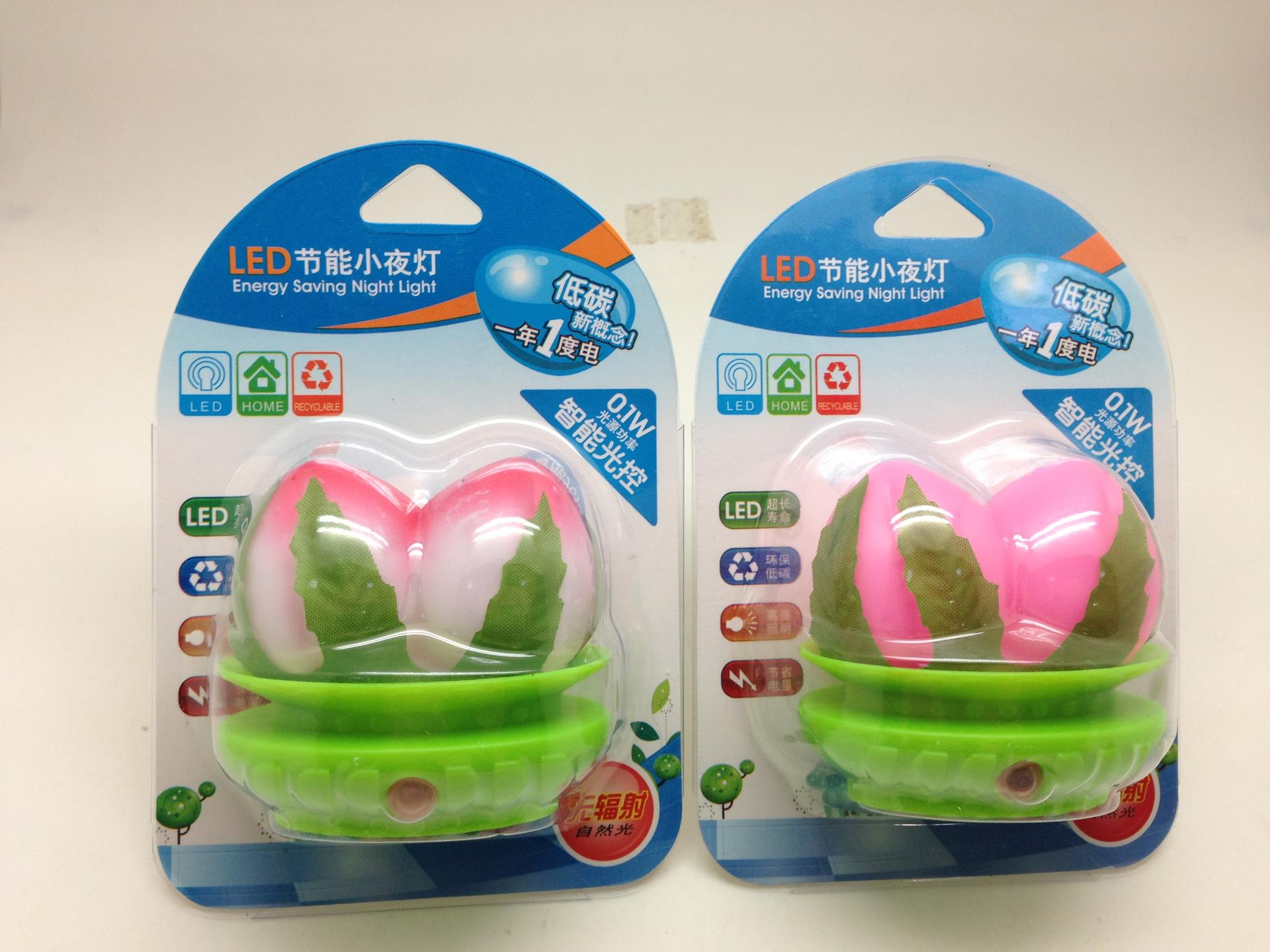 OEM fruit peach shape LED SMD mini switch plug in night light with 0.6W and 110V or 220V W014