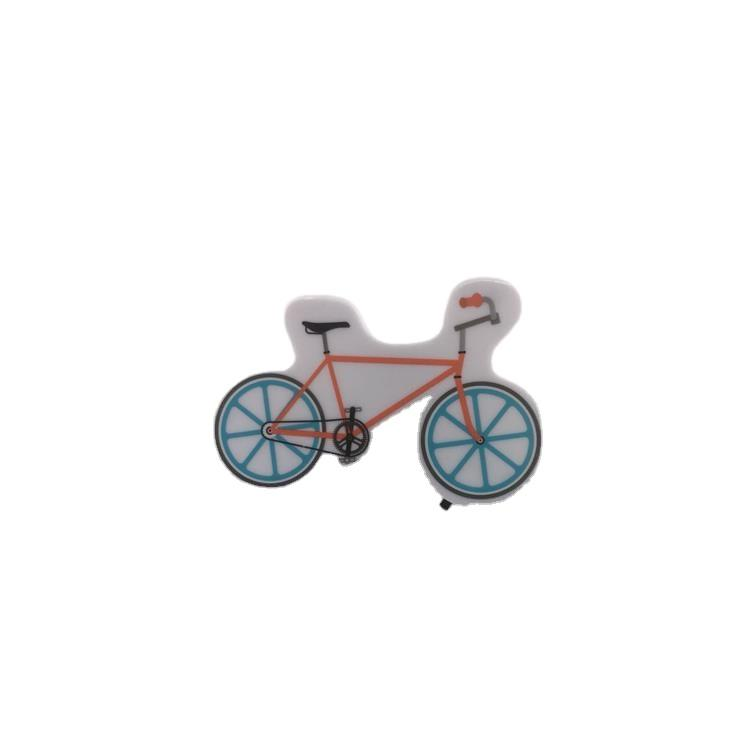 OEM W095 Cartoon bicycle 4 SMD mini switch plug in room usage withnight light wall decoration child gift