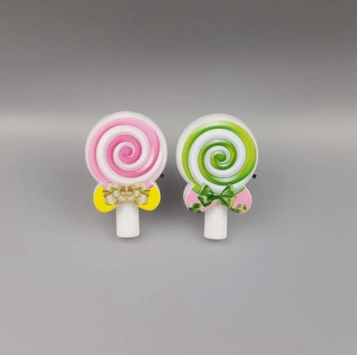 GL-111 Novelty mini lollipopwall lamp plug in night light decoration For Baby Bedroom cute gift