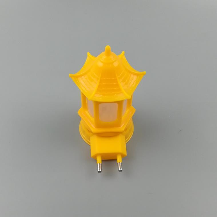 W066 OEM pavilion shape 3SMD mini creative switch plug in LED night light for baby kids bedroom 0.6W 110V 220V