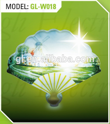 fan shape LED SMD mini switch plug in night light with 0.6W and 110V or 220V W018Custom design