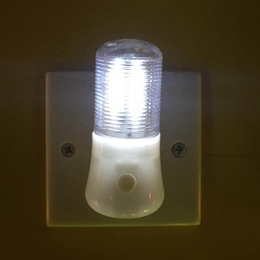New Style LED Night Light Wall Plug-in Bright Light White Saving Energy AC Powered 0.6W 110V 220V W038