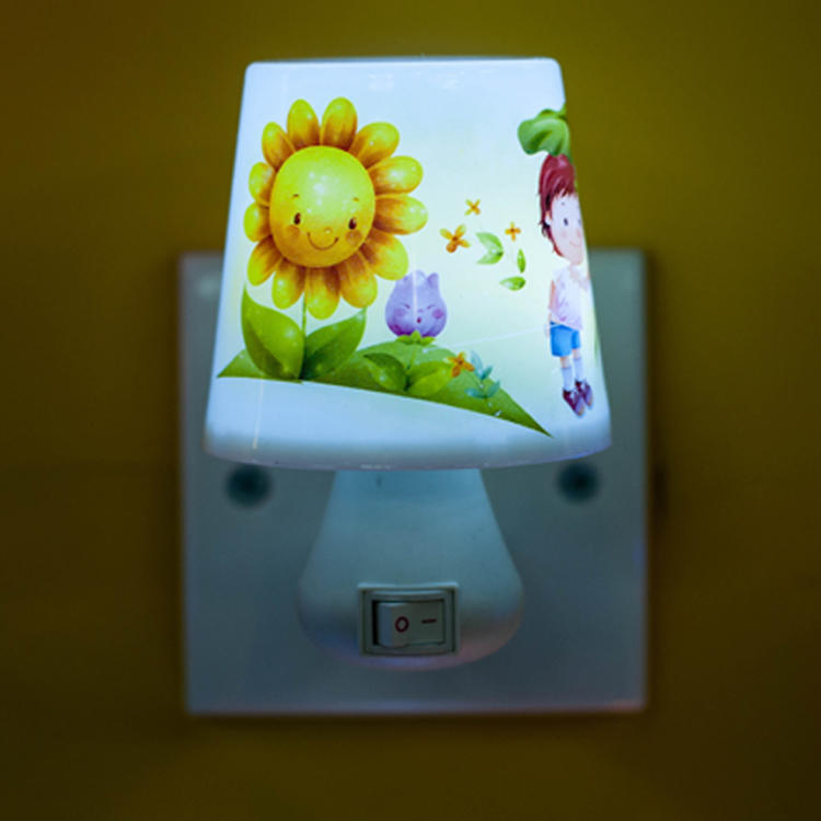 mini table lamp shape LED SMD switch plug in night light with 0.6W and 110V or 220V W017
