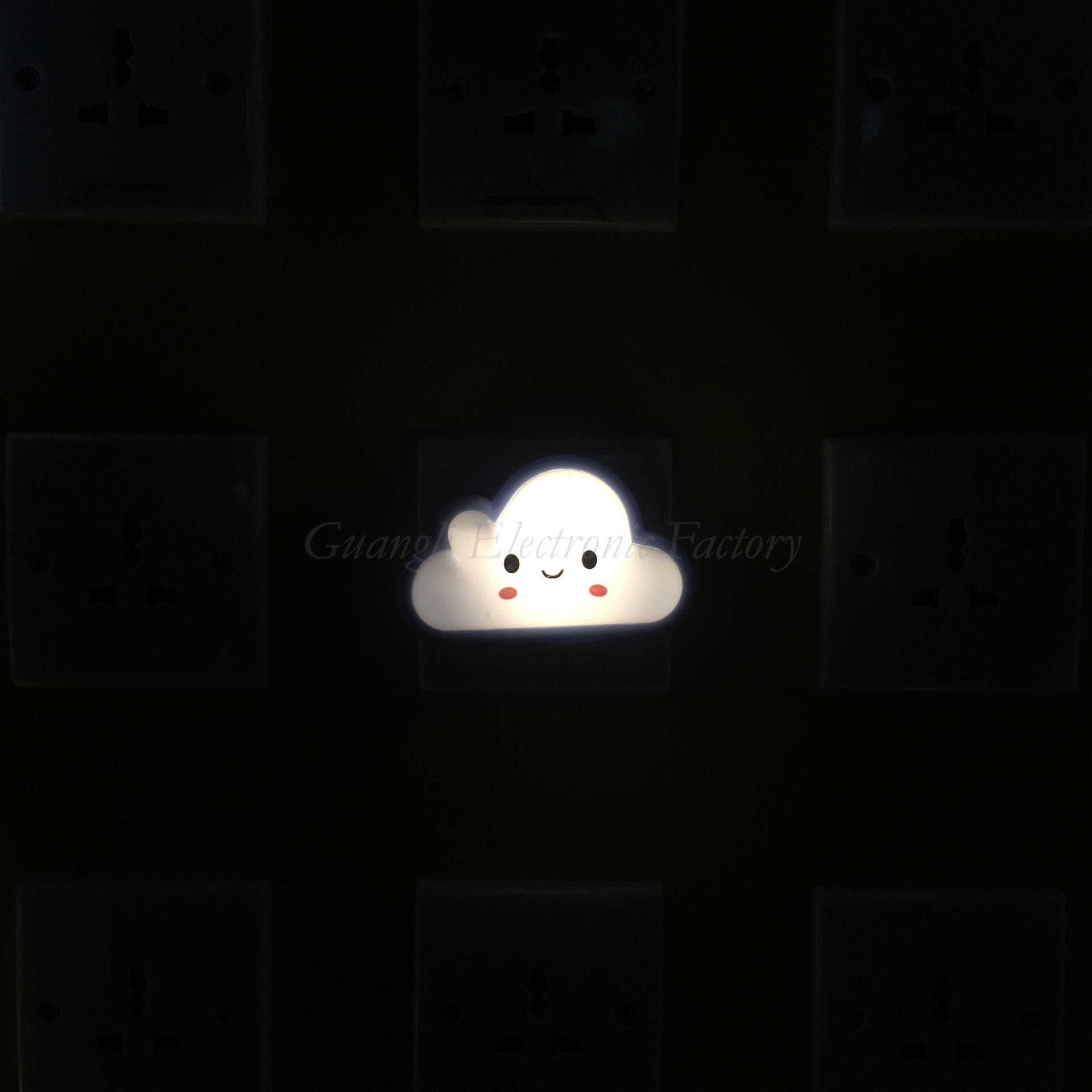 Cloud shape LED SMD mini switch plug in night light with 0.6W and 110V or 220V W029