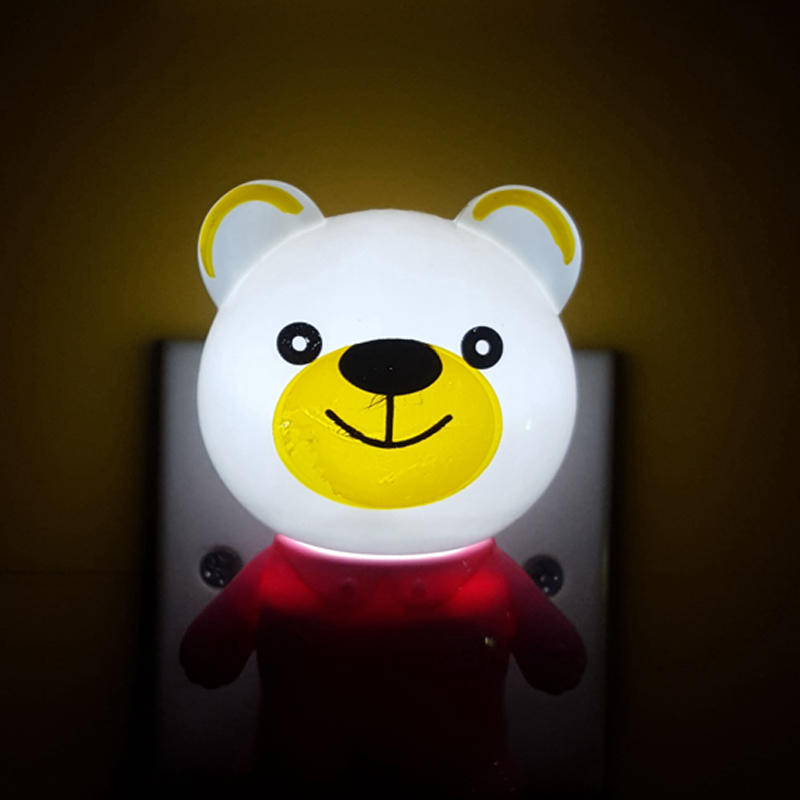 W118 light sensor cartoon animal lamp switch plug in led night light For Baby Bedroom wall decoration