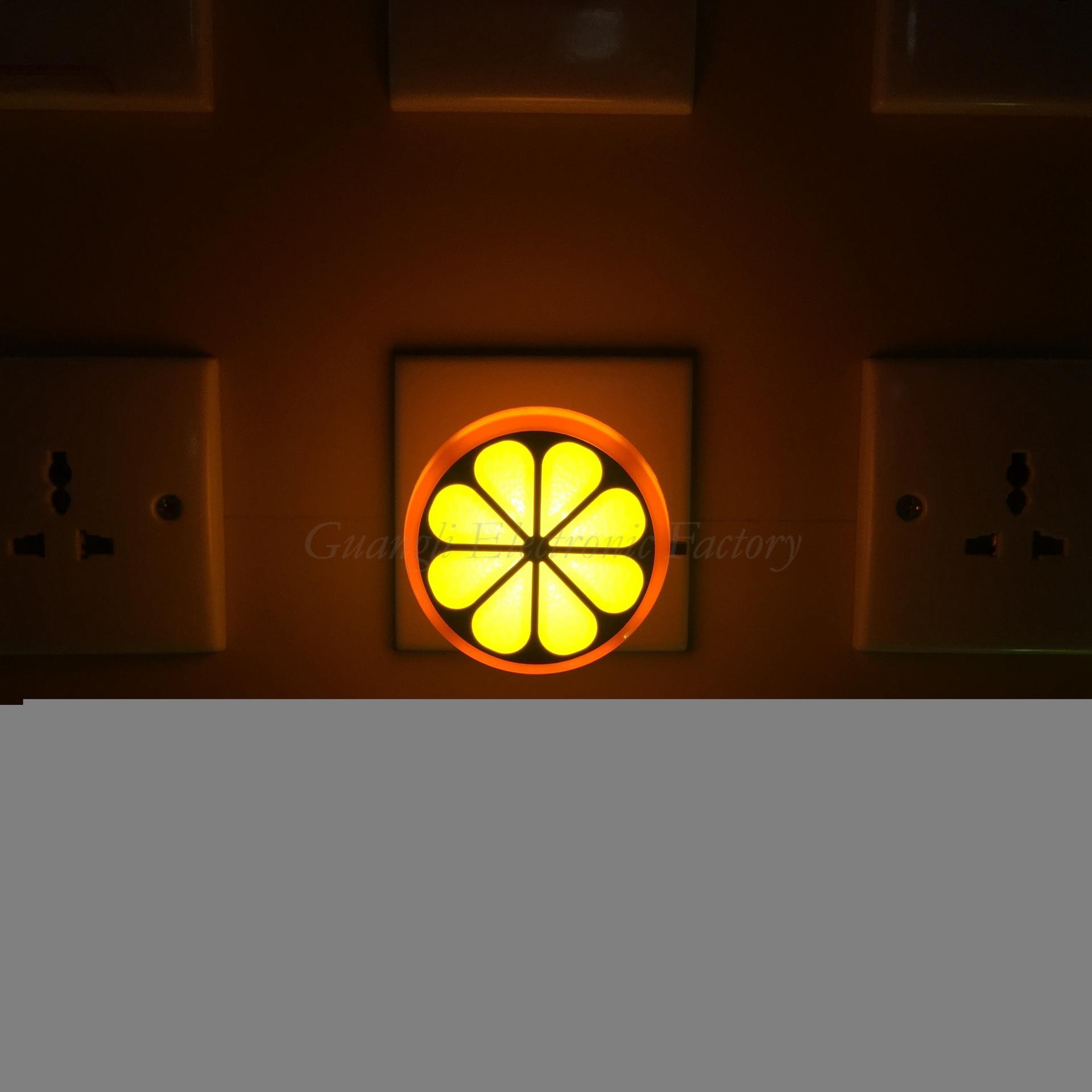 GL-W083 4SMD US EU mini switch plug in Fruits orange Shape night light For Baby Bedroom wall decoration