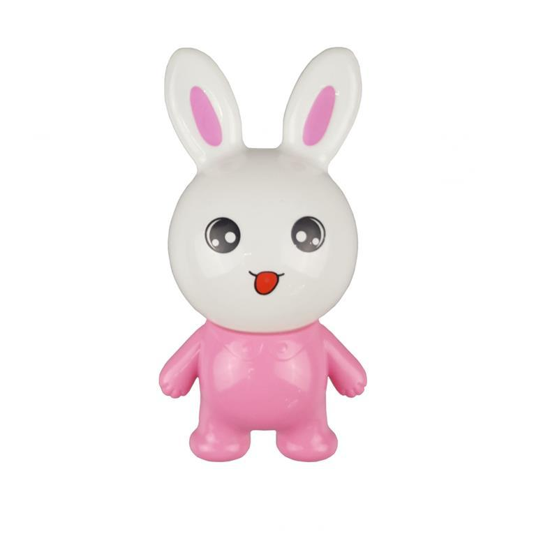 W124 pink rabbit lamp switch plug in led night light For Baby Bedroom wall decoration child gift