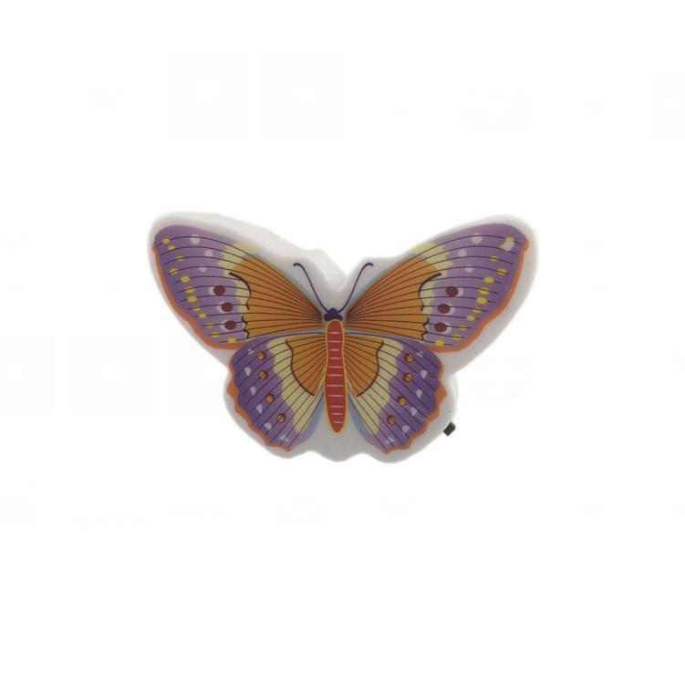 OEM W094 Beautiful Butterfly Animals cartoon 4 SMD mini switch plug in room usage withnight light