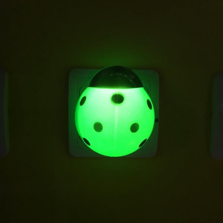 W067 OEM animal beetle shape LED mini switch plug in plastic LED night light with 0.6W and 110V or 220V