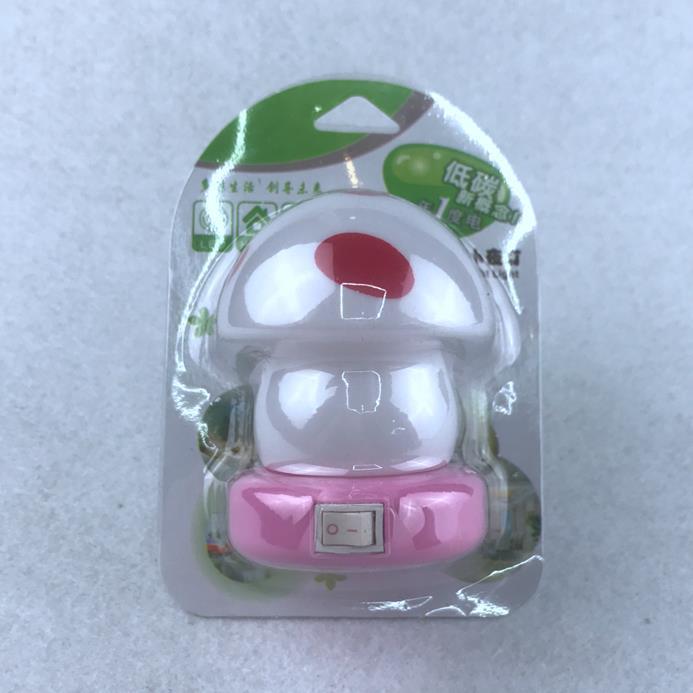 OEM W079 mini switch plug in mushroom LED night light cute gift For Children Baby Bedroom