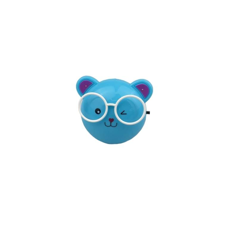 W100 US mini bear with glasses switch plug in led night light For Baby Bedroom decoration child gift
