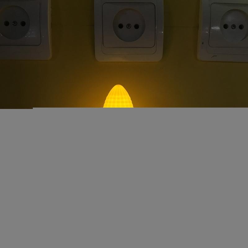 corn shape 4 SMD mini switch Sensor plug in night light with 0.6W AC 110V or 220V W048