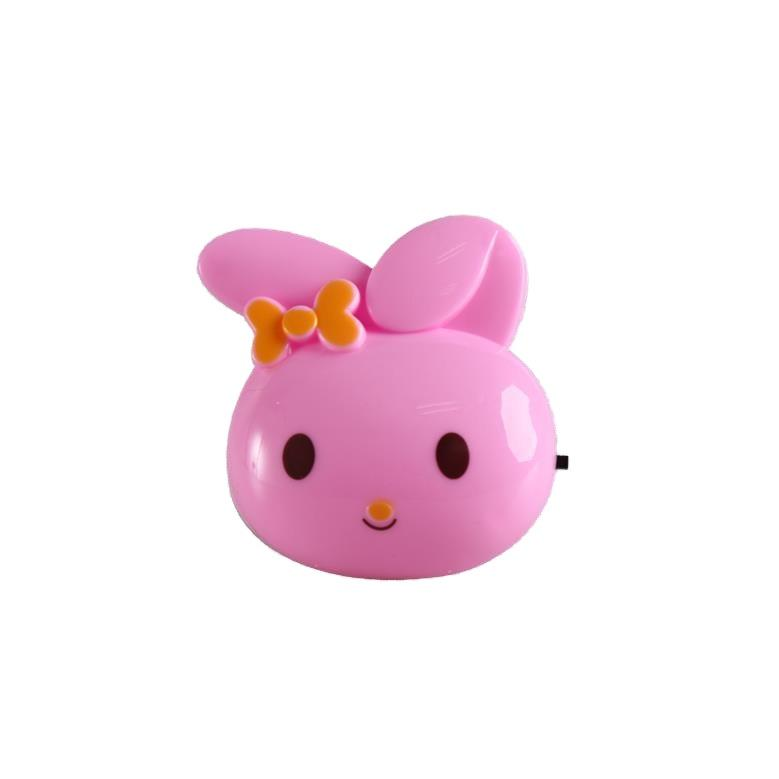 W082 4SMD mini switch plug in rabbit cute ears night light For Baby Bedroom cute gift wall decoration