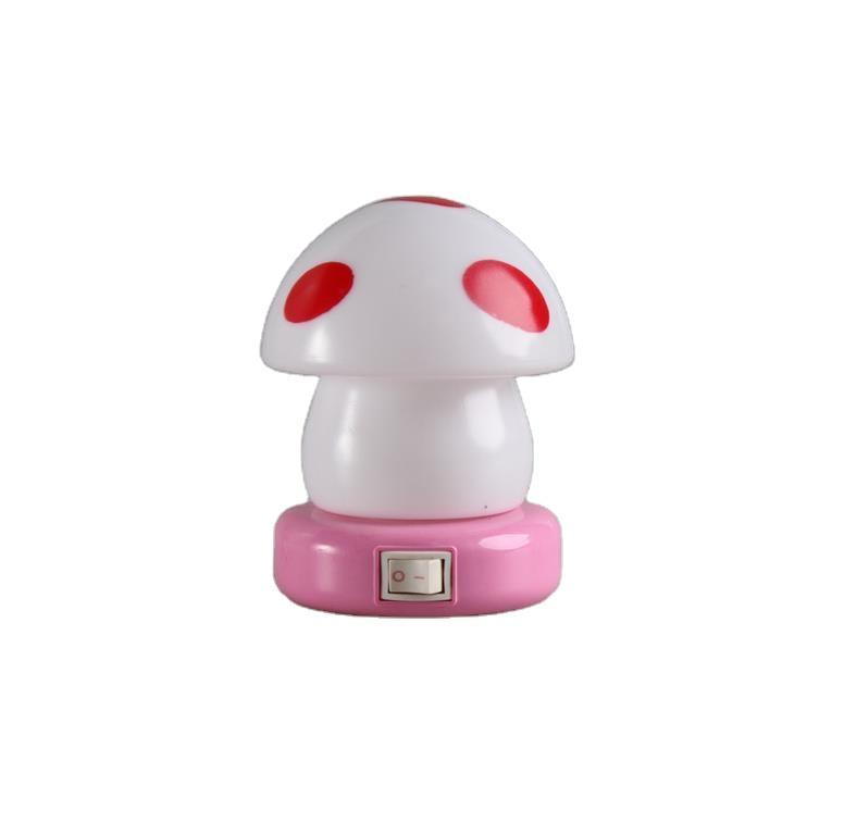 W079 switch plug in mushroom shape mini LED night light For Children Baby Bedroom