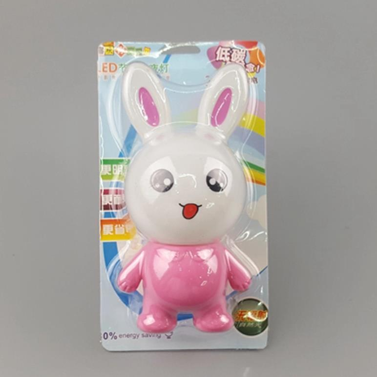 hot sale OEM W124 pink rabbit lamp switch plug in led night light For Baby Bedroom wall decoration child gift