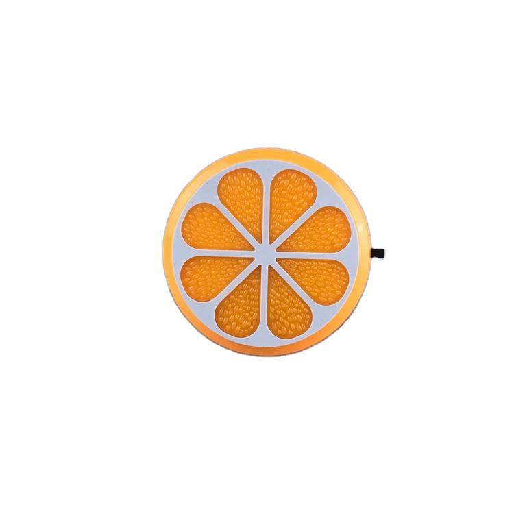 OEM GL-W083 4SMD US EU mini switch plug in Fruits orange Shape night light For Baby Bedroom wall decoration