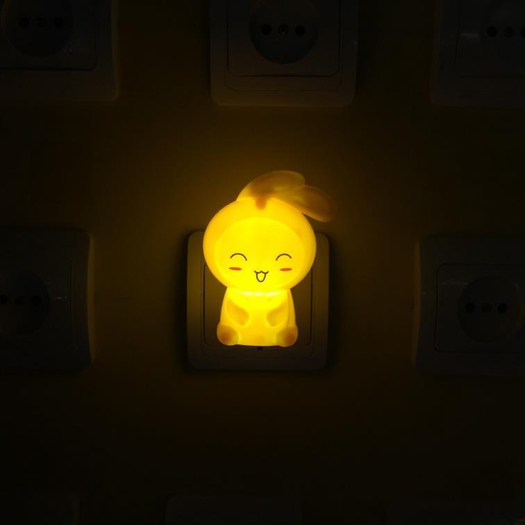 OEM W097 US mini rabbit switch plug in led night light For Baby Bedroom