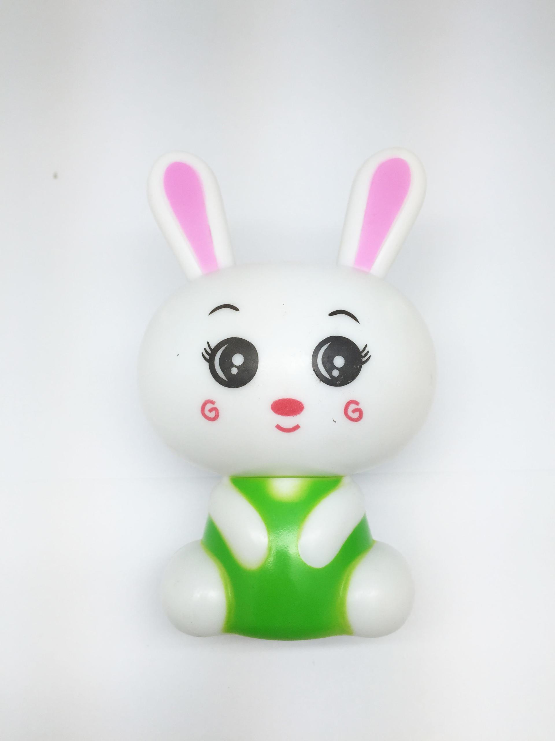 OEM0.6W and 110V or 220V W021 White cute rabbit shape LED SMD mini switch plug in night light