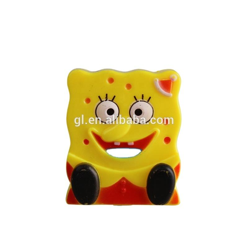 W064 Spongebob squarepants shape 4 SMD mini switch plug in night light 0.6W AC 110V 220V