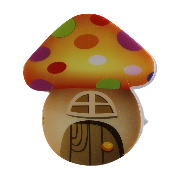 W078 mini switch plug in mushroom LED night light cute gift For Children Baby Bedroom