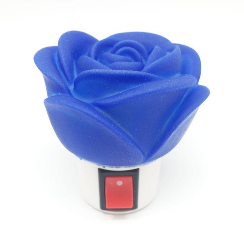 OEM 0.6W and 110V or 220V Rose shape LED mini switch plug in night light for kids bedroom